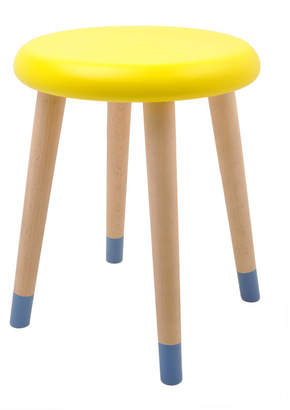 Nubie Modern Kids Boutique Colourful Wooden Stool In Lemon And Blue