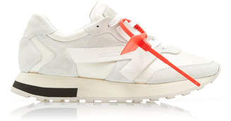 Off-White Color-Block Suede And Faille Sneakers