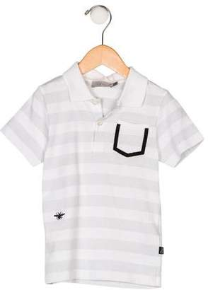 Christian Dior Boys' Collar Striped Shirt