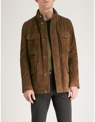 Corneliani Longline suede field jacket