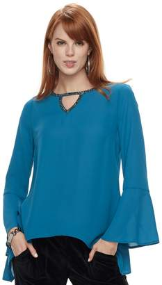 Juicy Couture Women's Cut-Out Bell Sleeve Top