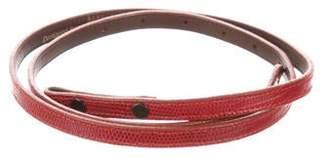 Kieselstein-Cord Lizard Skinny Belt