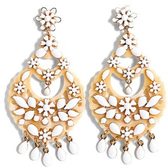 Women's J.crew Floral Chandelier Earrings $65 thestylecure.com