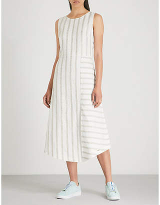 Ted Baker Colour By Numbers Chambra striped linen dress
