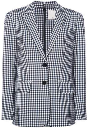 Tibi gingham print blazer