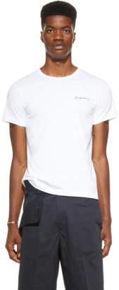 Jacquemus SSENSE Exclusive White Le T-Shirt Brode T-Shirt