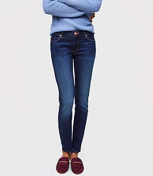 LOFT Curvy Skinny Jeans in Rich Dark Indigo Wash