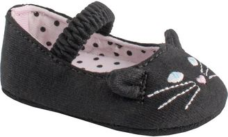 Baby Girl Wee Kids Knit Cat Skimmer Crib Shoe $16 thestylecure.com