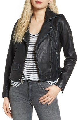 Women's Andrew Marc Whitney Washed Leather Crop Jacket $468 thestylecure.com