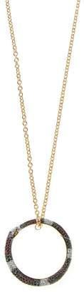 Gucci Ouroboros 18kt Gold, Diamond & Sapphire Necklace - Womens - Gold