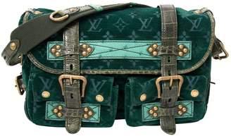 Louis Vuitton Green Velvet Handbag
