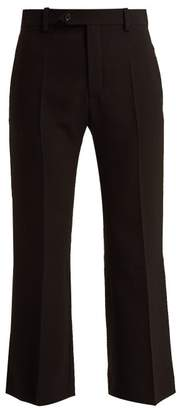 Chloé - Cropped Crepe Trousers - Womens - Black