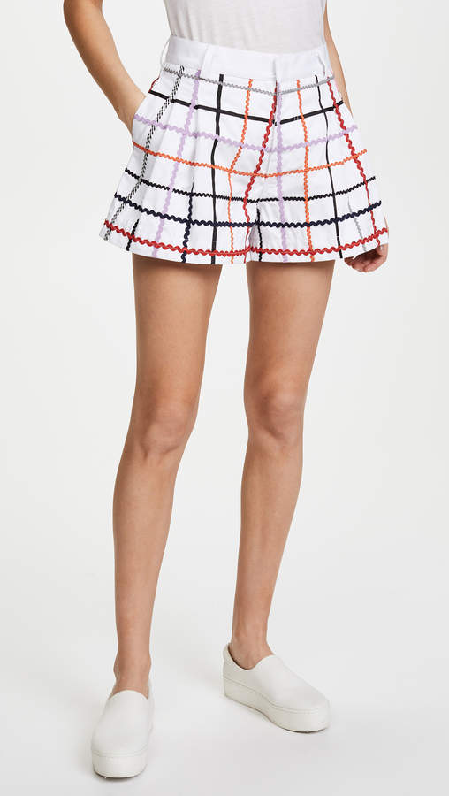 Ksenia Schnaider Checked Shorts