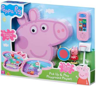 Peppa Pig Pick up & Play - Seaside or Playground Playset Assortment