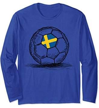 Sweden Swedish Flag Soccer Ball Long Sleeve Shirt