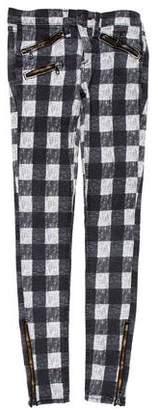 Rag & Bone Plaid Low-Rise Skinny Jeans