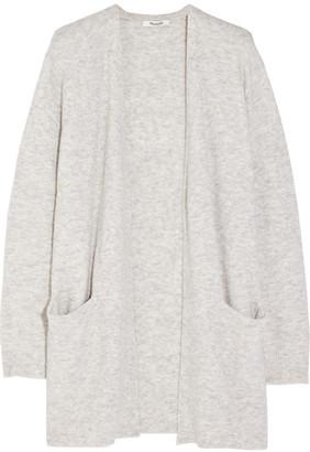 Madewell - Ryder Stretch-knit Cardigan - Light gray $100 thestylecure.com