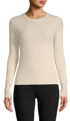 Vince Waffle-Textured Wool & Cashmere Top