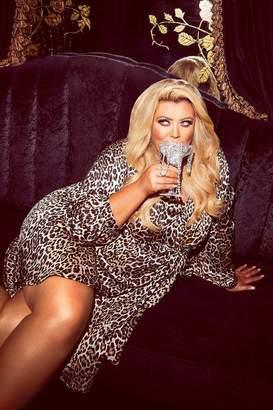 boohoo Gemma Collins Wrap Leopard Balloon Sleeve Midi Dress