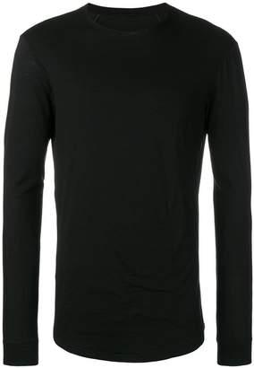Devoa round neck jersey top