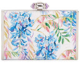 Judith Leiber Couture River Blossoms Tall Slender Rectangle Evening Clutch Bag