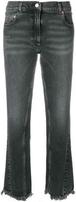 Magda Butrym cropped frayed jeans