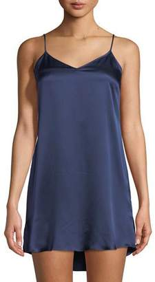 Derek Rose Bailey Silk V-Neck Chemise