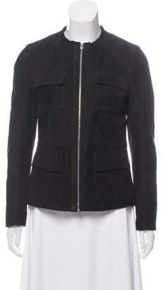 Belstaff Suede Zip-Up Jacket Black Suede Zip-Up Jacket