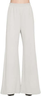 MM6 MAISON MARGIELA Ribbed Jersey Wide Leg Pants