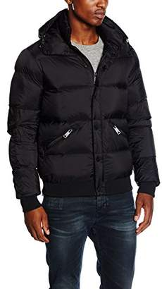 Armani Jeans Men's Down Ribbed Puffer Jacket