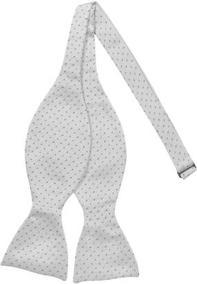 Forzieri Small Dot Woven Silk Self-tie Bowtie