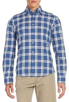 Gant Regular-Fit Plaid Cotton Sportshirt