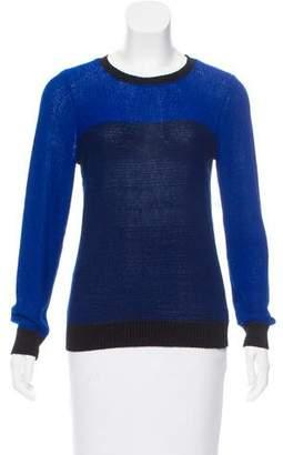 Jonathan Simkhai Semi-Sheer Colorblock Sweater