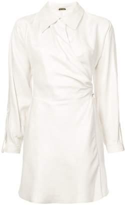 Cult Gaia wrap shirt dress