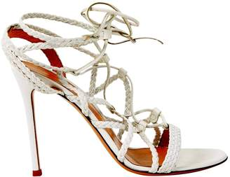 Gianvito Rossi White Leather Heels