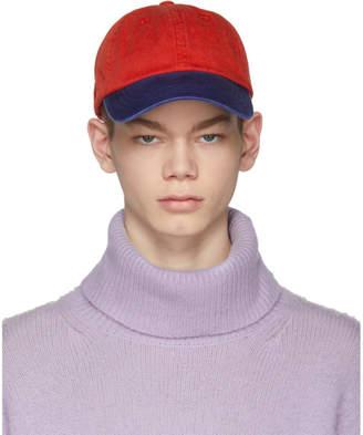 Acne Studios Red and Blue Carli Face Cap