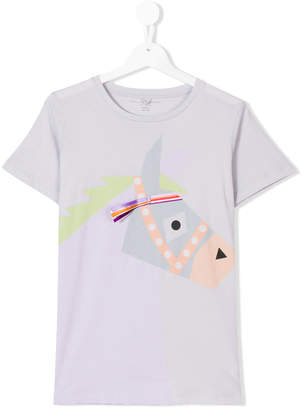 Stella McCartney Teen Arlow donkey-print T-shirt