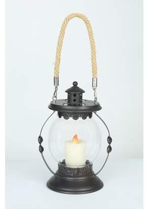 Luma Light Hanging Hurricane Lantern with Candle Solar Light