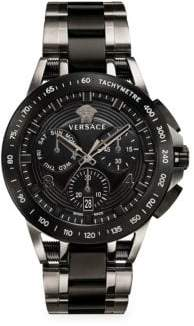 Versace Tech Ion-Plated Chronograph Watch