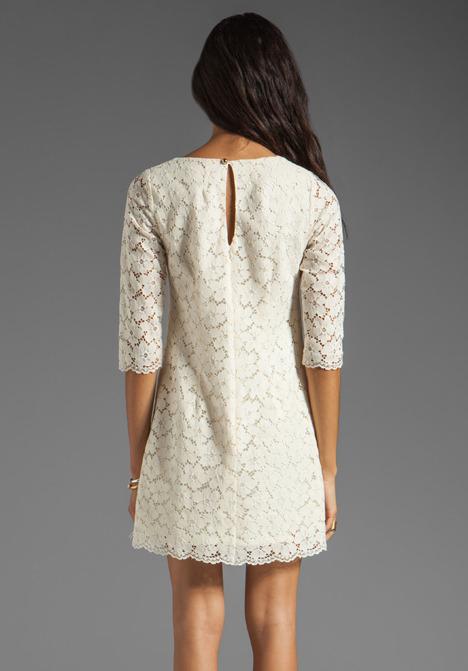 Shoshanna Lace Constance Shift Dress