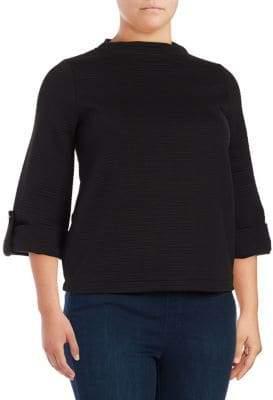 Joan Vass Three-Quarter Sleeve Sweater