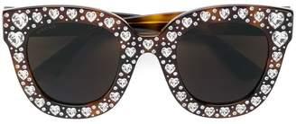 Gucci heart shaped embellished sunglasses