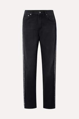 Christopher Kane Crystal-embellished High-rise Jeans - Black