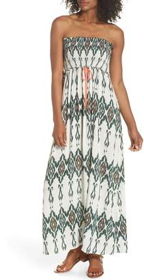 Heidi Klein Smocked Cover-Up Maxi Dress