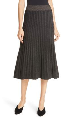 A.L.C. Neal Metallic Pleated Midi Skirt