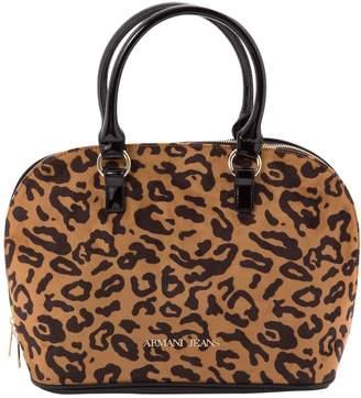 Armani Jeans Brown Leather Handbag