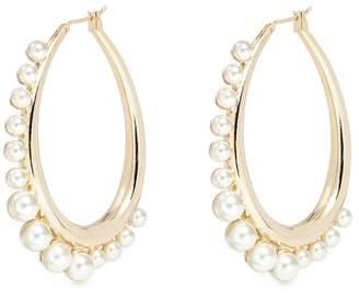 Anton Heunis Swarovski pearl hoop earrings