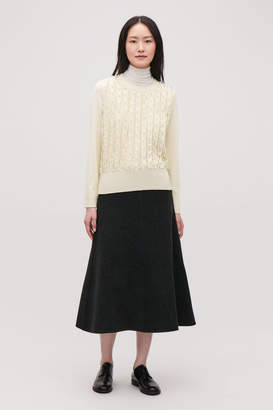 Cos FRILL WOOL-KNIT JUMPER