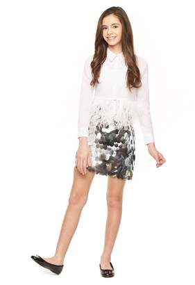 Milly Minis Paillette Sequin Modest Mini Skirt