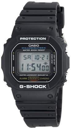 G-Shock G SHOCK Mens Black Resin Strap Sport Watch DW5600E-1V